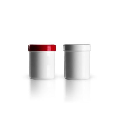 Salbenkruke mit rotem/weißem Deckel 50g