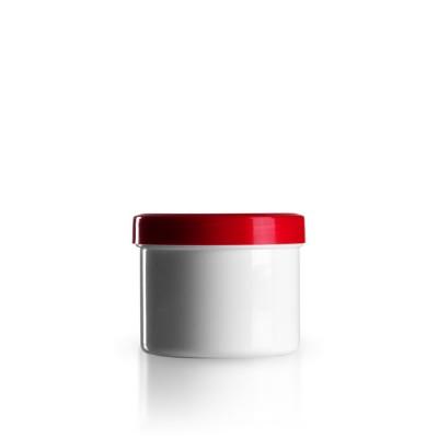 Salbenkruke mit rotem Deckel 150g