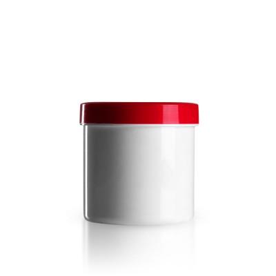 Salbenkruke mit rotem Deckel 250g