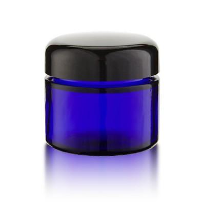 Blauglas Tiegel 50 ml - schwarz