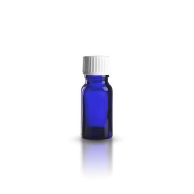 10ml Tropfflasche blau + Schraubverschluss weiß ST