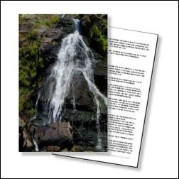 Rock Water Bachblüten Karte 10x15cm