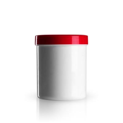 Salbenkruke mit rotem Deckel 300g