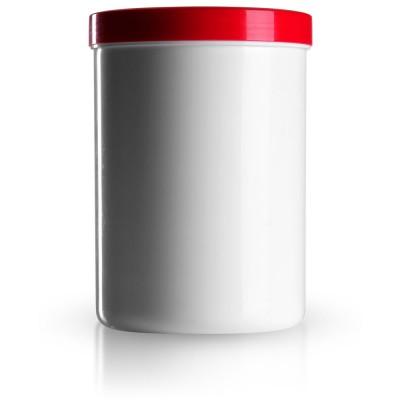 Salbenkruke mit rotem Deckel 1000g