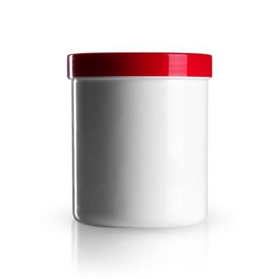 Salbenkruke mit rotem Deckel 500g