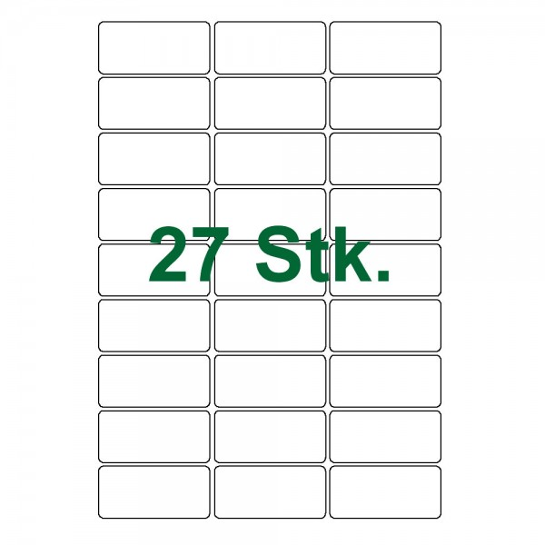 27 Etiketten-weiß 63x30mm