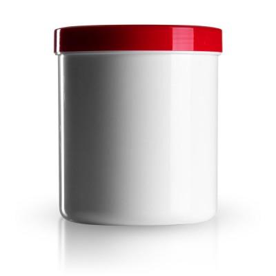 Salbenkruke mit rotem Deckel 800g