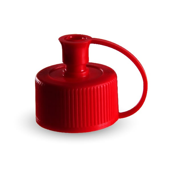 Schraubverschluss mit Kappe rot ND25